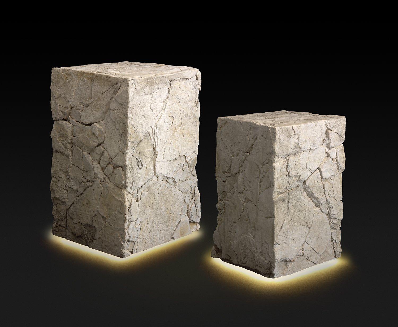 Forma tridimensional de Panespol con acabado luminoso