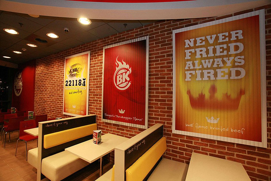 Burger King. Panespol. Paneles decorativos imitación ladrillo. Panel decorativo ladrillo caravista