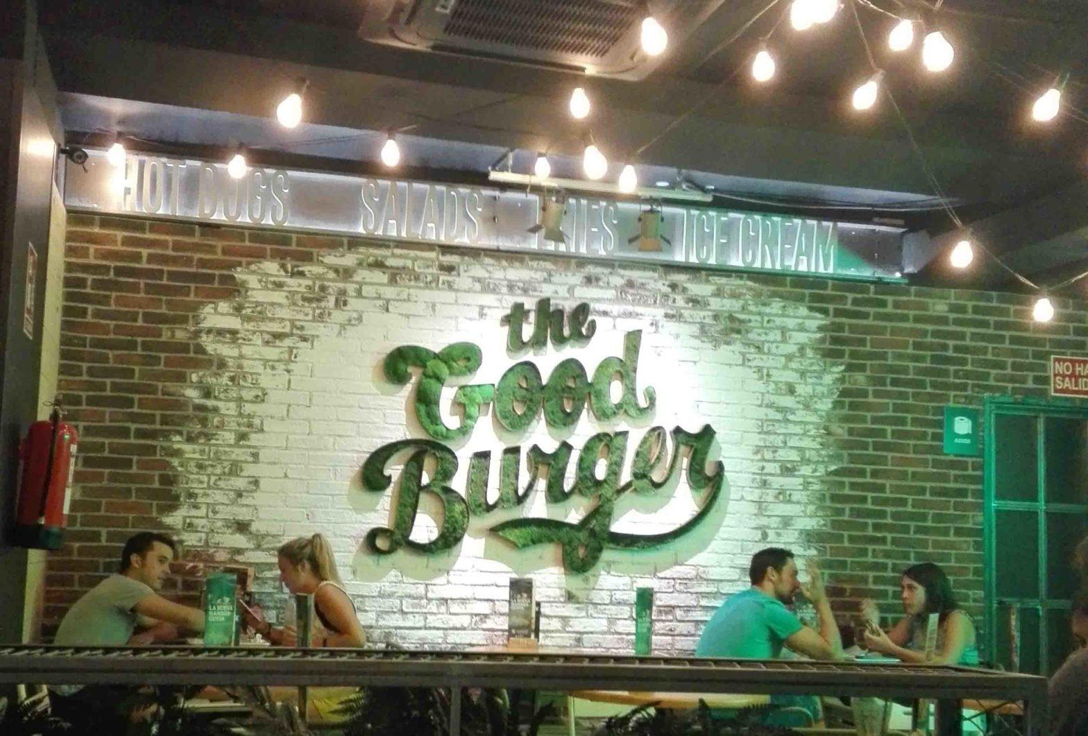 Cara vista The good Burger. Panespol. Panel decorativo de poliuretano. Panel imitación ladrillo. Panel caravista