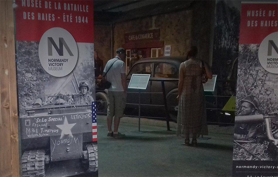 Los paneles de Panespol forman parte de la recreación de los escenarios en el Museo de la Victoria de Normandia