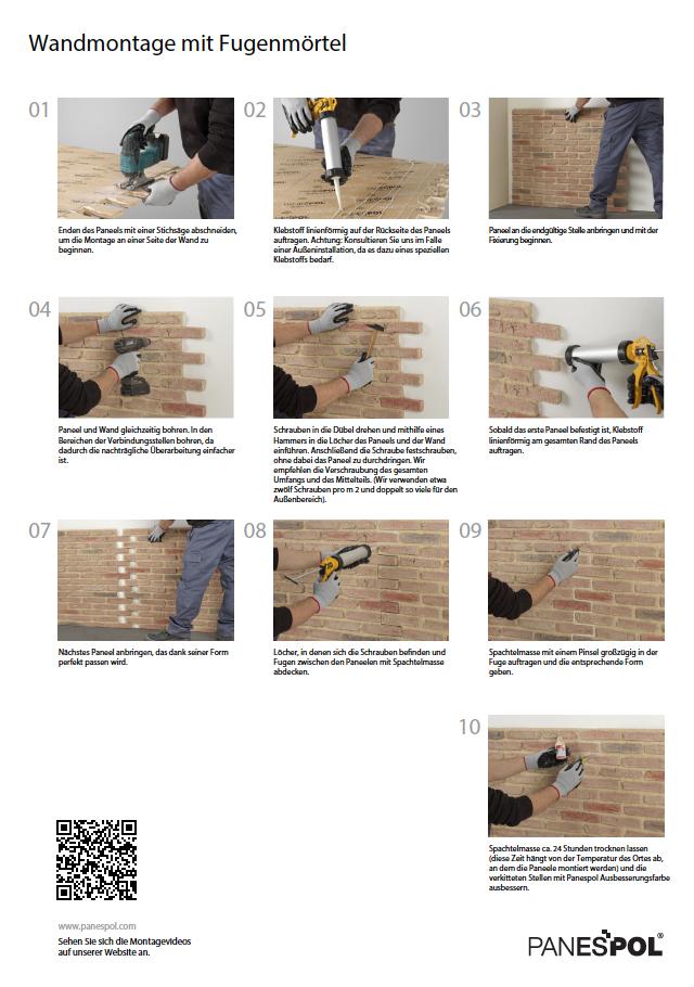 Montage Panneele Panespol mit Fugenmörtel copia