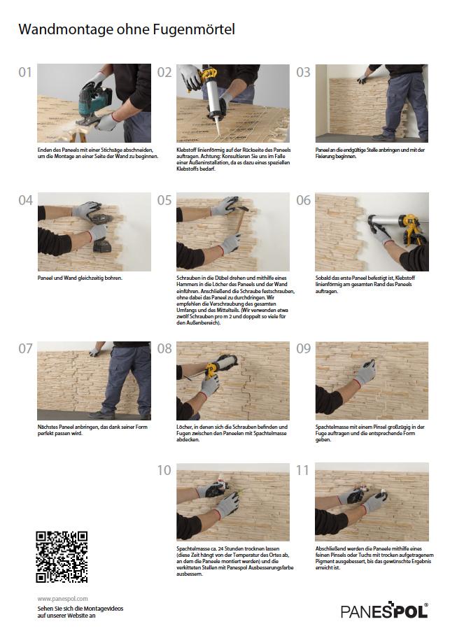 Montage Panneele Panespol ohne Fugenmörtel copia